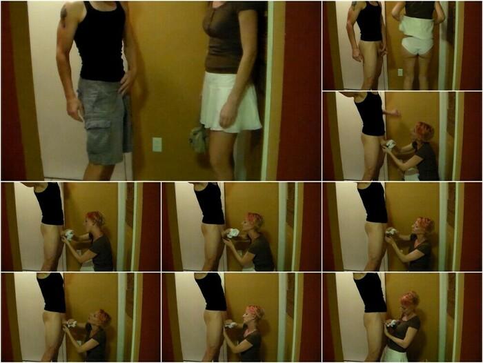 Brittany Lynn – CFNM Handjob Using White Cotton Panties (HD)