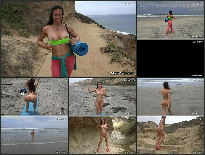 Gretchen – Fit MILF Does Yoga At Nude Beach (HD)