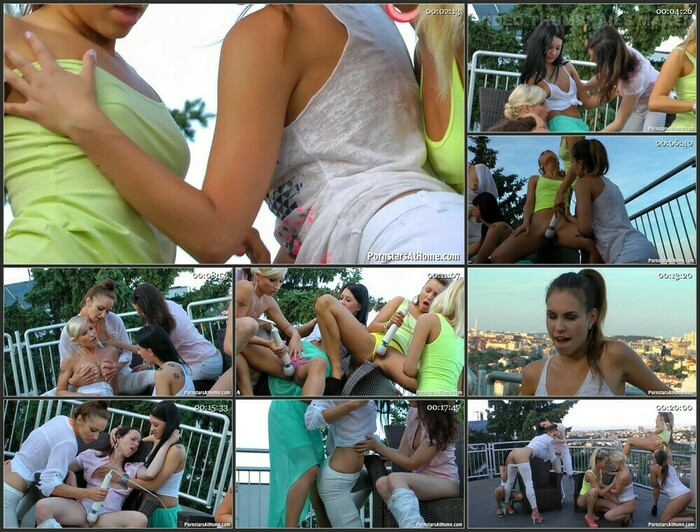 Vanessa,Donna Joe,Victoria Puppy,Nessy,Lolly – Shouting Their Lesbo Lust From The Rooftops Part 1 (Full HD)