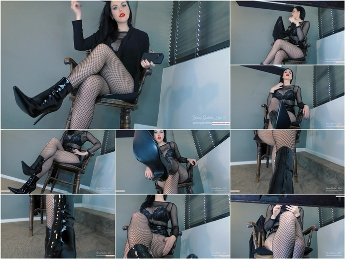 Iwantclips presents Young Goddess Kim in Boot slave under YGK's Desk iWC – $12.99