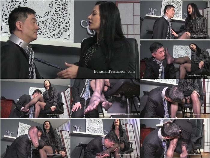 Vancouver Kinky Dominatrix presents Miss Jasmine in Bitch Boss Stocking Worship