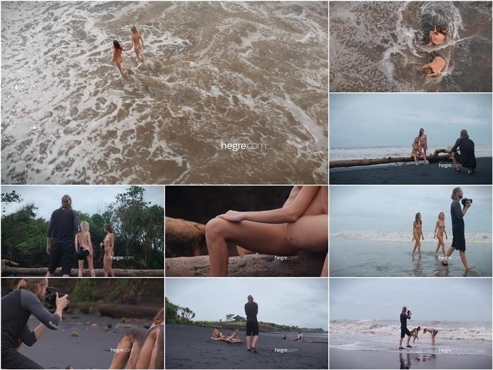 Hegre presents Clover & Natalia A – Black Beach Bali Shoot