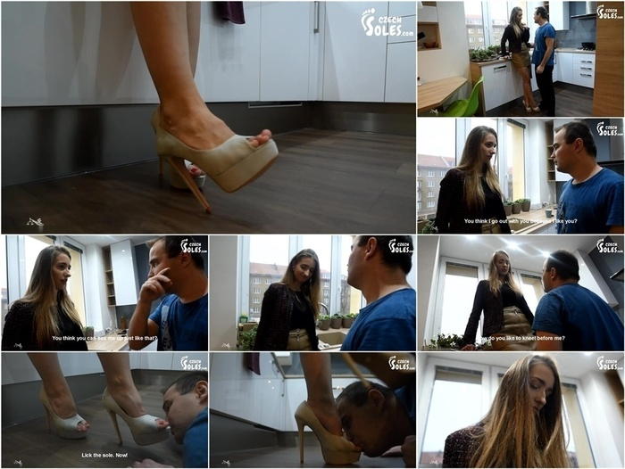 Femdom 2019  Czech Soles – Mean snobby girl – verbal and shoe humiliation spitting on loser – part 1