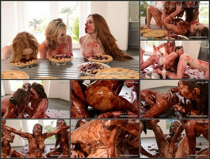 Veronica Vain, Sasha Heart Katy Kiss Messy Girls #3 Pie Whores (HD)