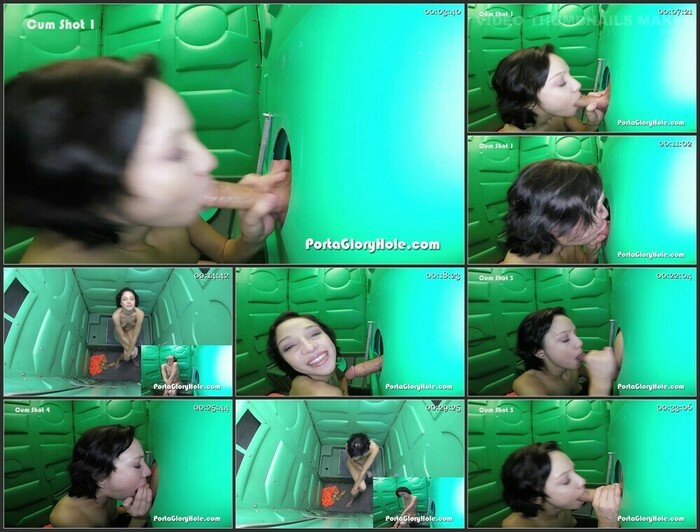 Cadey in the Porta Gloryhole for the First Time (Full HD)