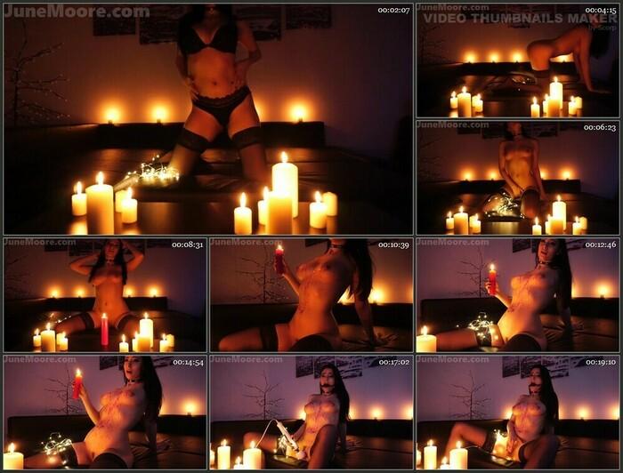 JuneMooreXXX – Candles & Wax – Sensual Strip, Wax, Cum (Full HD)
