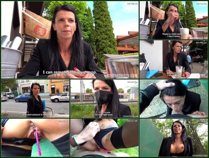 Czech Streets – MILF Walking On Public With Vibrator